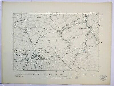 1890 OS 6 inches to a mile Map of Devonshire – Parracombe VINE