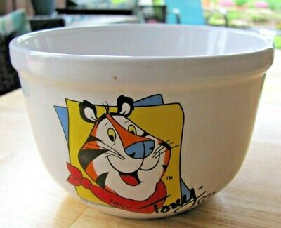 Tony the Tiger Frosted Flakes Kellogg Ceramic Cereal Bowl 2001