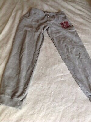 Girls Grey Jogging Bottoms F&F Age 11-12 Years