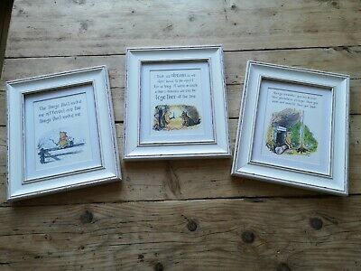 Framed Winnie the pooh Nursery Quote/Picture Set