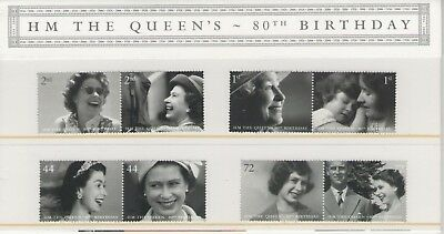 GB QE11 80th BIRTHDAY 2006 PRESENTATION PACK OF ROYAL MAIL MINT STAMPS FREE P&P
