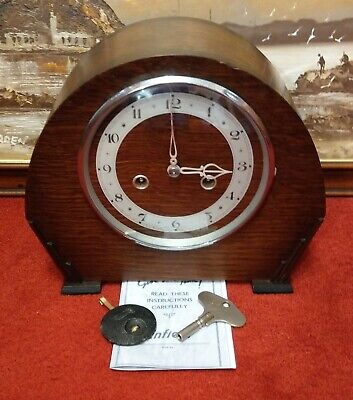 1948 pre-Smiths 'Enfield': The 'Totnes' Striking Mantel Clock – Overhauled & GWO