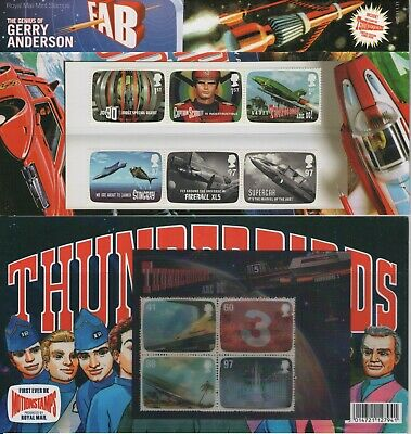 Gb Thunderbirds 2011 Presentation Pack Of Royal Mail Mint Stamps Free P&P