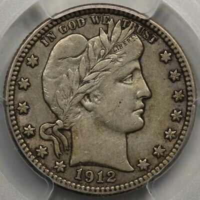 1912-S Barber Quarter PCGS & CAC VF-35. Better Date and Sweet!