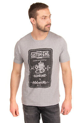 COMBO T-Shirt Top Size L Printed Front Short Sleeve Crew Neck Made in Italy