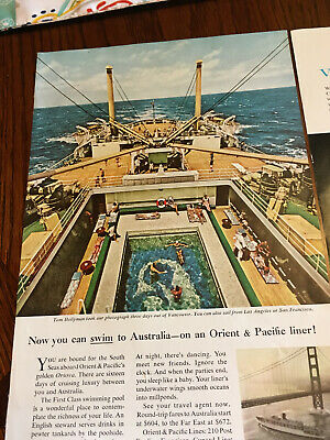 30 Vintage Cruise Line Ads-(American President Lines, Matson, French Line,etc)