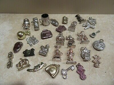 Vintage Charms Cracker Jack and Bubble Gum Machine Prizes World People