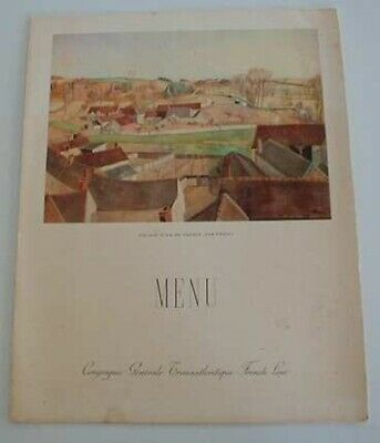 FLANDRE- Suberb LARGE sized French Line Steamship Menu