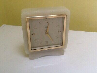 Elliott Of London White Onyx Mantel Clock!