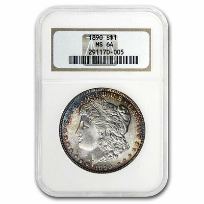 1890 Morgan Dollar MS-64 NGC (Old Gen Holder) - SKU#213478