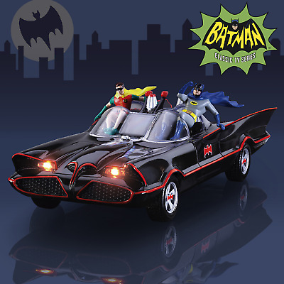 BATMAN TV Series BATMOBILE Sculpture With Lights And Music by Bradford Exchange