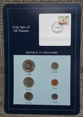 Franklin Mint Coin Sets Of All Nations 1984 Republic Of Singapore