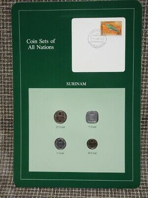 Franklin Mint Coin Sets Of All Nations 1986 Surinam