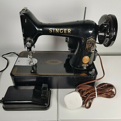 Vintage 1960 Singer Sewing Machine 99K Electric (UK Mains Plug) ER419120 *Tested