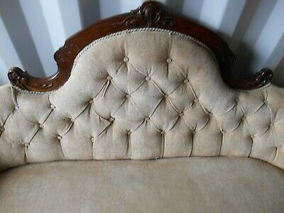 Old Antique French Sofa Settee Chaise