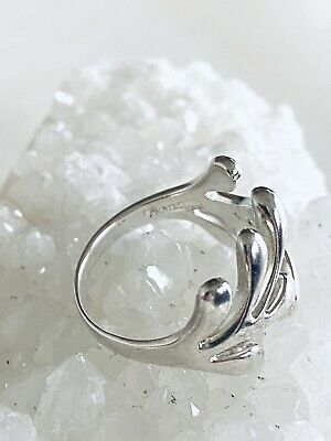 Sterling Silver 925 Tree Leaf Branch Forest Ring Size 7