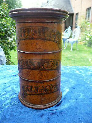 ANTIQUE SPICE TOWER - 3 SECTIONS TURNED WOOD TREEN   VICTORIAN 1850's