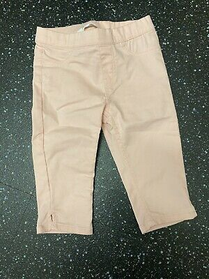 H&M Girls Pink Cropped Trousers Aged 2-3yrs