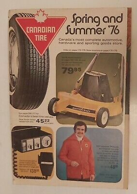 """Rare Canadian """"Canadian Tire Corp. 1976 Spring & Summer"""" Catalogue-Very Good"""