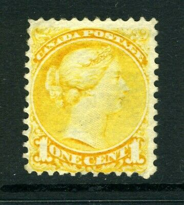 CANADA Scott 35 - M/NG - 1¢ Yellow Small Queen Issue (.001)