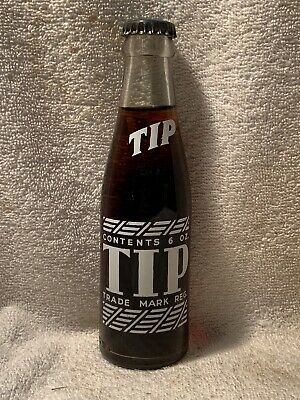 FULL 6oz TIP COLA ACL SODA BOTTLE EDGEFIELD, S.C.