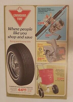 """Rare Canadian """"Canadian Tire Corp. 1979 Spring & Summer"""" Catalogue-Excellent"""