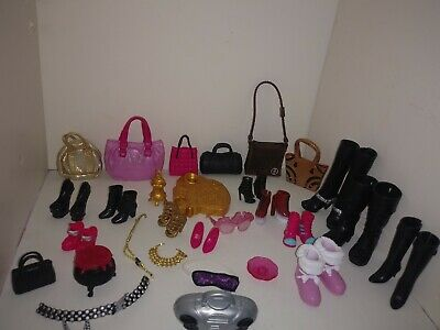 Monster High Ever After High Barbie Accessories - Shoes Bags Boots Purses Radio