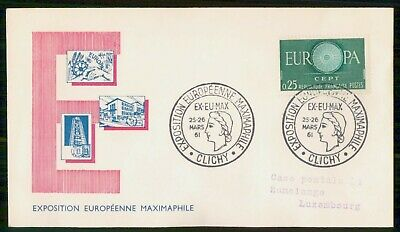 Mayfairstamps France 1961 Maximaphile European Exposition cover wwe93881