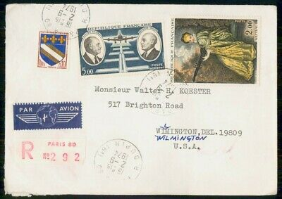 Mayfairstamps France 1974 Paris Registered to US Airmail Cover wwe94217