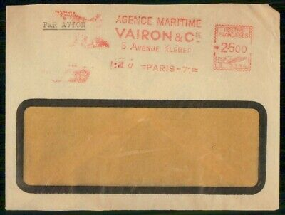 Mayfairstamps France Agence Maritime Metered Slogan Cover wwe94721