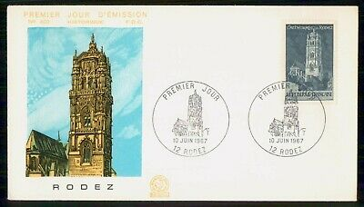 Mayfairstamps France 1967 Rodez Cathedral First day cover wwe93965