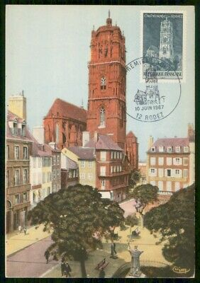 Mayfairstamps France 1967 Rodez Cathedral Maximum Card First day cover wwe94005