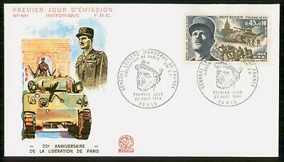 Mayfairstamps France 1969 Liberation of Paris Anniversary First day cover wwe935