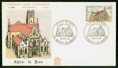 Mayfairstamps France 1969 Eglise De Brou First day cover wwe93977