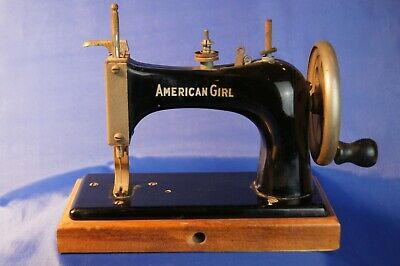 American Girl Black Toy Sewing Machine Vintage Antique Child's