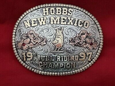 Vintage Rodeo Trophy Buckle~Texas Bull Riding Champion 900