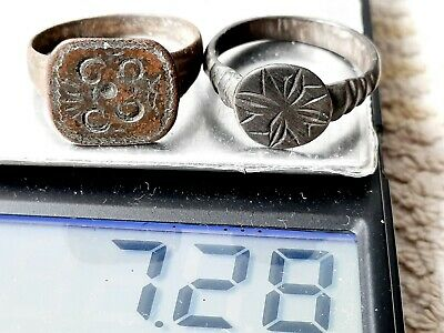 Ancient MEDIEVAL bronze Ring Vintage antique ARTIFACT Viking