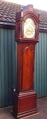 Fine 18th Century Flame Mahogany 5 pillar London Longcase Clock, Knight, London