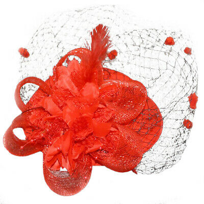 Fascinating Hair Clip Feather net Hat Bowler Flower Veil Wedding Party Hat