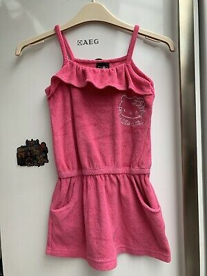 Girls Towelling Playsuit Age 4-5 Years Old (104-110cm)