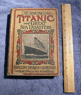 Collection of RMS Titanic books, including 4 published in 1912; some rare items