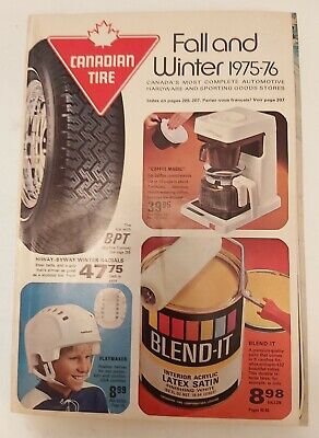 """Rare """"Canadian Tire Corp. 1975-76 Fall & Winter"""" Catalogue- Excellent Mint"""