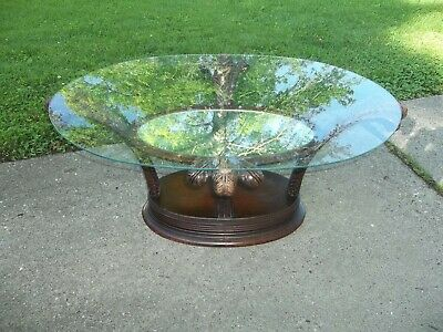 Rare Antique Vintage Prince of Wales Mahogany Oval Cocktail Coffee Table