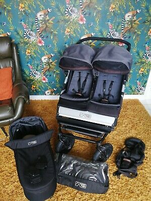 Mountain Buggy Duet In Flint With Carrycot Plus & Rain Cover