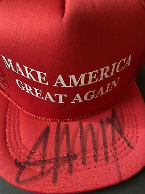 Donald Trump Hand Signed Hat With COA