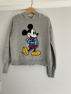 Minnie Mouse Sequin Hooded Jumper Age 6/7. Good Condition Only Worn Once.