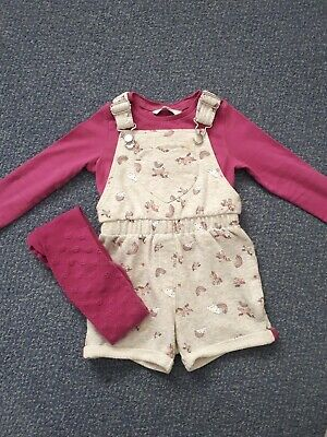 Girl 2-3 Years Unicorn Dungarees Outfit