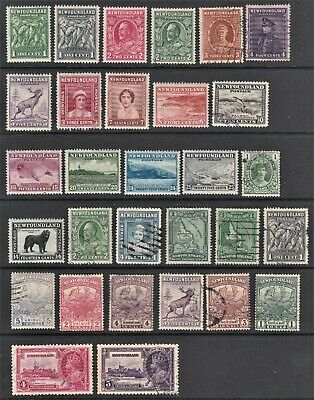 Lot Selection of 30 - Newfoundland George V - MH & Used