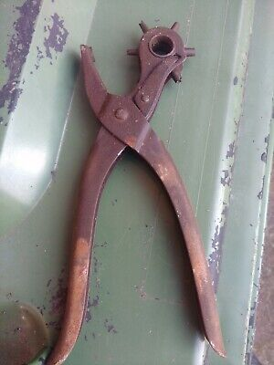 EYELET PLIERS FABRIC PUNCH CANVAS LEATHER HOLE MAKER. Vintage.