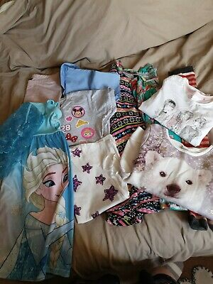 Girls Bundle Of Clothes Age 7-8 Years Inc Frozen And Tu (11 items)
